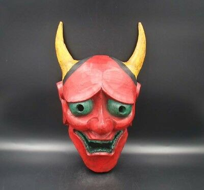 """Handmade Carving colored drawing wood Mask God Deco Art 13"""""""