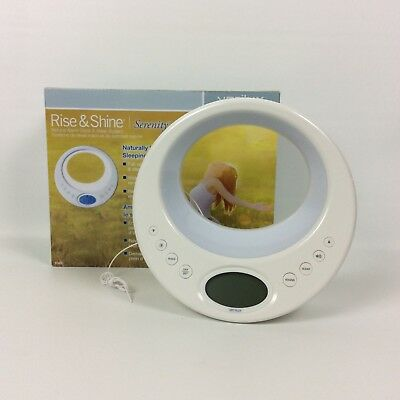 Verilux Rise and Shine Alarm Clock and Sleep System with Color Changing LED