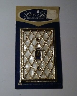 AmerTac Light Switch Plate Cover Faux Mother of Pearl Vintage NOS