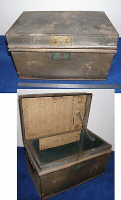 1841 THOMAS MILNER & SON Fireproof Deed Strong Box safe LIVERPOOL England barron
