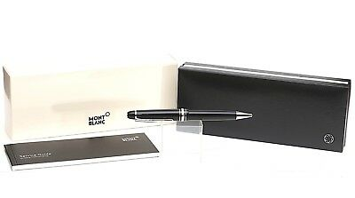 Top Condition MontBlanc Meisterstück Platinum-Coated Resin Rollerball Pen w/ Box