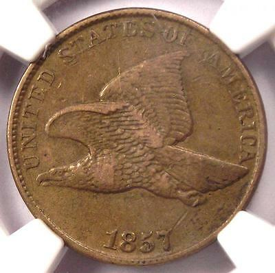 1857 Flying Eagle Cent 1C - NGC XF40 (EF40) - Rare Early Certified Penny