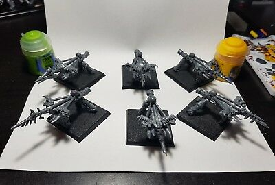 Orc and goblin scratch-built artillery teams