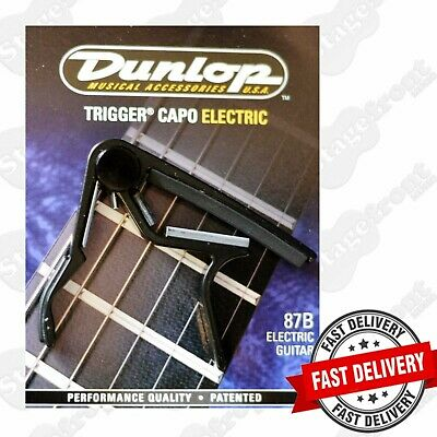 Jim Dunlop J87B Trigger Clamp Style Capo Strong Spring Action Grip For Electrics