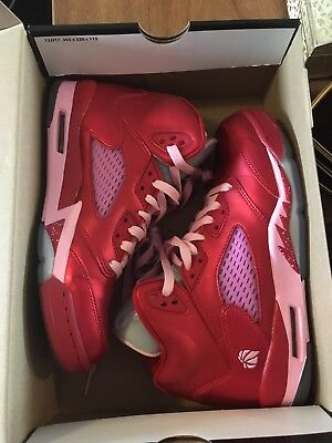 Air Jordan 5 Retro (GS) Red & Pink 6Y (~women's 8)