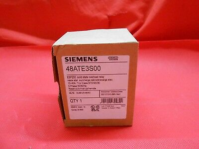 Siemens  48Ate3S00  Soilid State Overload Relay 10-40A 3Ph - Nib!!