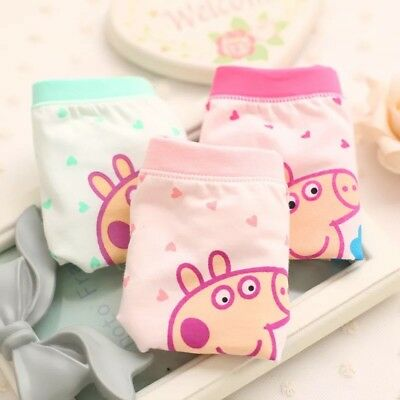 Peppa Pig Girl's Cotton Underwear /3 Pcs /size M 2-5 Years