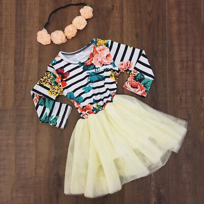 AU Stock Flower Girl Princess Dress Kid Baby Birthday Party Pageant Tutu Dresses