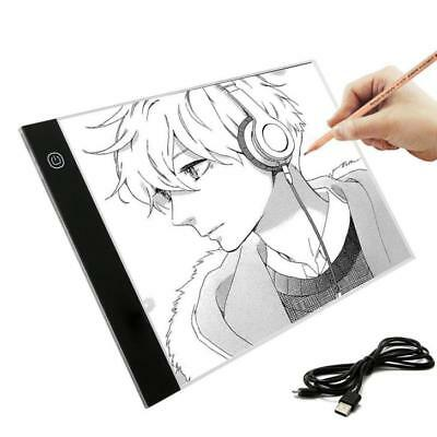 A4 Ultra-thin Portable LED Light Box USB Power Artcraft Tracing Light Pad White