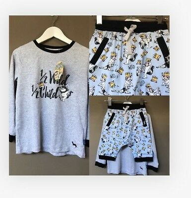 Peter Alexander Boys Where The Wild Thins Are PJ Set Size 6 Years RRP$59.95