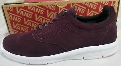 a3e56503bb3412 Vans Iso 1.5 Suede Iron Burgundy True White Ultra Cush Skate Shoe Women Size  6