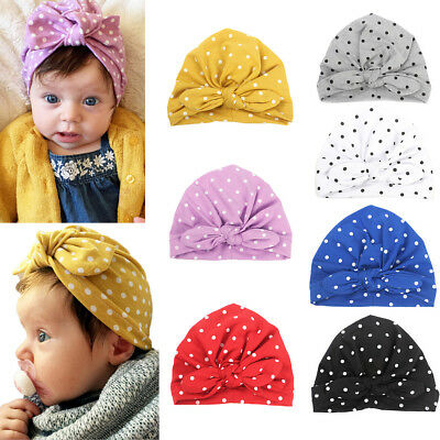 Baby Toddler Sweet Kids Boys Girls India Hat Wave Bowknot Soft Hat 7 Colors