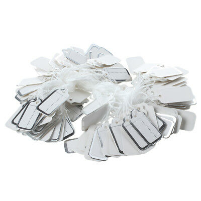200 X 26X13MM Paper price tags with silver edge E7Q4