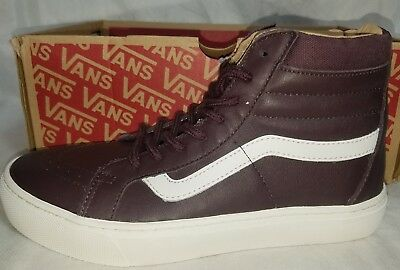 bc95d3aeb51a16 VANS SK8 HI CUP Leather Red Iron Skate Brown White Shoe Size Men 8 ...