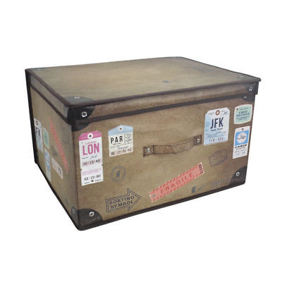 Kids Childrenu0027s Jumbo Toy Storage Box Chest Bedroom Room Tidy Trunk Vintage Look  sc 1 st  PicClick UK & OWL KIDS CARDBOARD Room Tidy Toy Storage Box Chest Trunk Choice Of ...