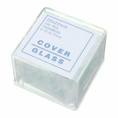 100pcs Transparent Slides Coverslips Coverslides 22x22mm For Microscope W4A A4J6
