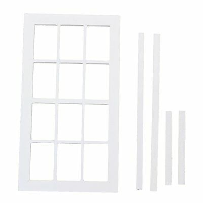 1:12 Scale Wooden Miniature Dollhouse 12 field Window frame White S6A4 Q5Q3