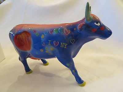 "COWS ON PARADE ""BIG APPLE"" NEW YORK CITY EXHIBIT #9163 Excellent Used Condition"