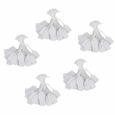 Jewelry Clothes Label Tie String Price Tag 13 x 26mm Pack of Approx.500Pcs A5W2