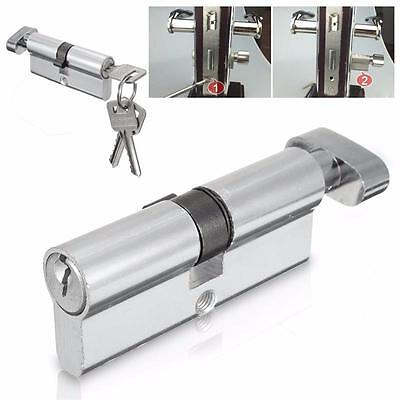 Neu X70 Silver Tone Cylinder Hardware IndoorAluminum Home Security Door Lock