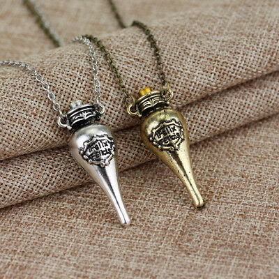 Harry Potter Felix Felicis Potion Liquid Vial Luck Bottle Pendant Magic Necklace