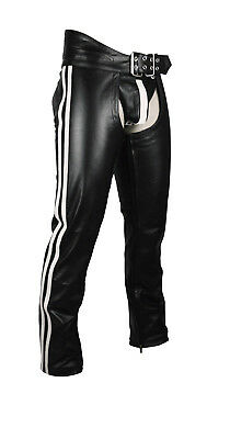 Men's Real Leather Chaps Bikers Chaps Leather Gay Interest Chaps