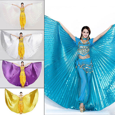 AU Shiny Soft Fabric Butterfly Wings Shawl Fairy Ladies Dance Wear Isis Wings
