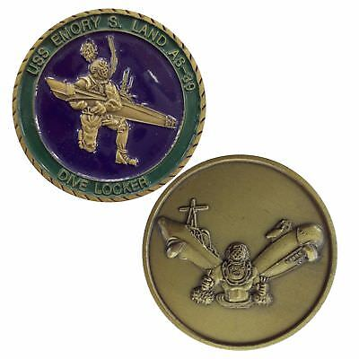 USS Emory S Land (AS 39) Challenge Coin  (1.75inch)