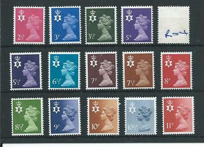 GB - REGIONALS - R04 - NTH IRELAND - DECIMAL - 14 vals to 11p - UNMOUNTED MINT