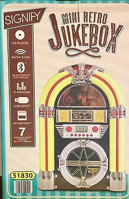 MINI RETRO JUKEBOX ( Brand New )