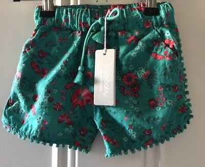 Purebaby Baby Girl Poolside Shorts Size 6-12 Months RRP$39.95