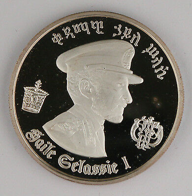 1972 $5 Dollar Empire Of Ethipoia Haile Selassie I Silver Proof Coin