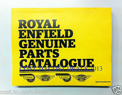 Royal Enfield Genuine Catalogue Manuals Book Update 11/2014 Latest Catalog