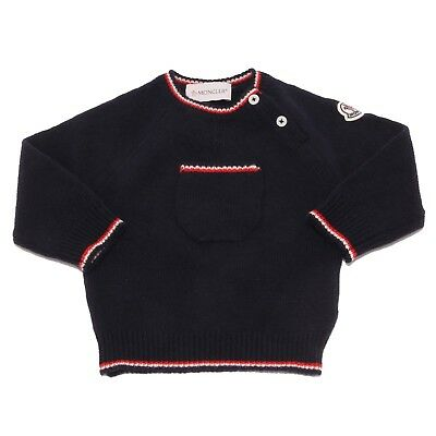 5782U maglione bimbo MONCLER lana wool blue kid jumper sweater
