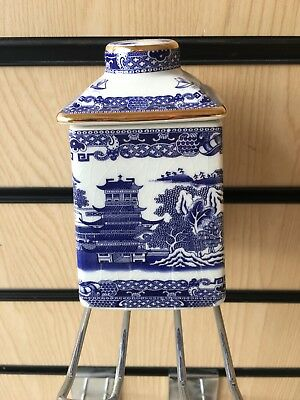 Wade China Willow Pattern Tea Caddy For  Ringtons Tea