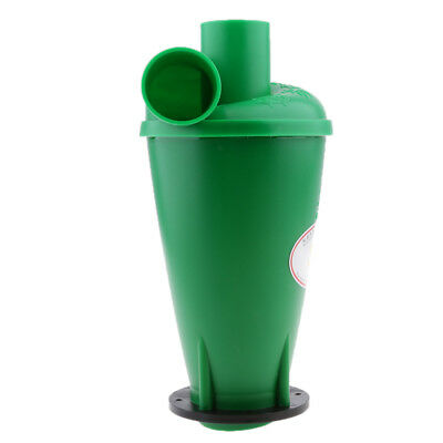 Cyclone Powder Dust Collector Filter For Vacuums With Flange Base Green
