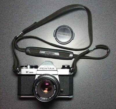 Pentax K1000 Camera with split screen viewfinder and 50mm F2 Lens