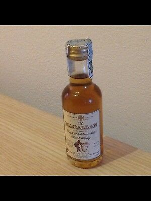 miniature mignon mini whisky MACALLAN 7 standing barrel DESIGNED for giovinetti