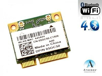 + Dell DW 1705 Atheros QCWB335 802.11b/g/n WLAN+Bluetooth 4.0 Mini PCIe +