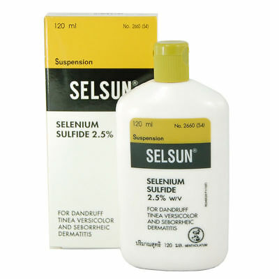 120ml SELSUN ANTI DANDRUFF TREATMENT SHAMPOO SELENIUM SULFIDE TINEA VERSICOLOR