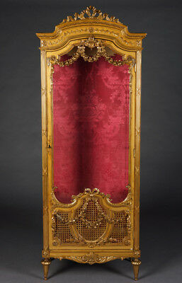 Princely French Cabinet Napoleon III in the Louis Seize Style around 1870
