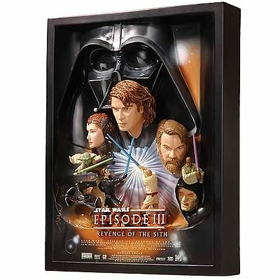 Star Wars Revenge Of The Sith 3D Movie Poster Sculpture by Code 3 not Sideshow