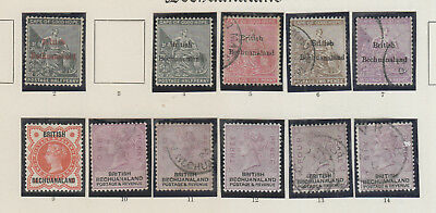 Bechuanaland , Old Time Collection On  Page , Qv Mh/fu