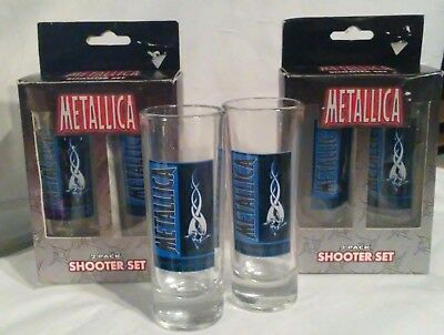 Metallica Collectible Shot Glass Shooter Set of 2 (Special 3pks/6 Shooters) 2002