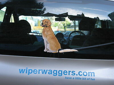 Golden Retriever Dog Lover Novelty Gift Collectable For Your Car Rear Windscreen
