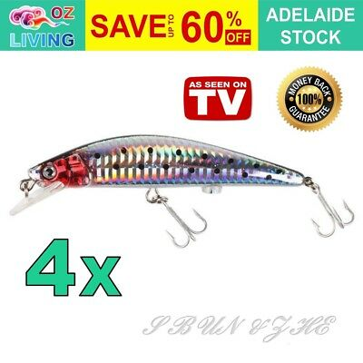 1x, 2x, 4x Twitching Fishing Lure Bait Rechargeable Original As Seen On TV