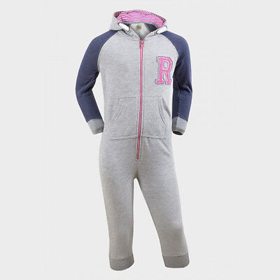 Girls All In One Kids Hooded Jumpsuit Zip Sleep suit New Size 3-8 yrs