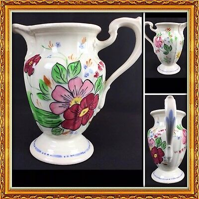 """BLUE RIDGE China USA Pink Floral MILADY Footed Water PITCHER 8 1/2"""""""