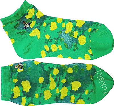 Vivienne Westwood Japan Ankle Socks Leopard Pattern w/Orb-Nylon-23-24cm-Green