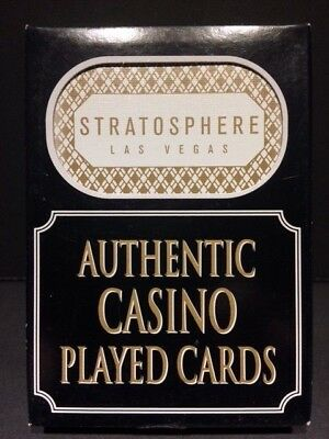 Authentic Stratosphere Las Vegas Casino Table Played Deck of Playing Cards Strip